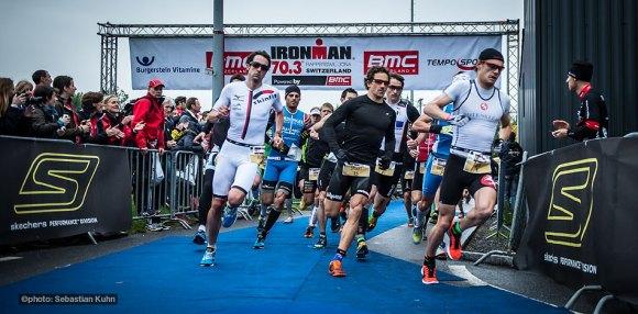 BMC IM70.3 Rapperswil starts for men pro field