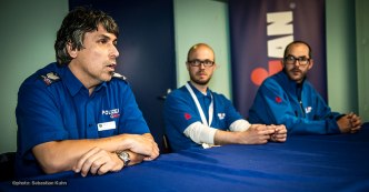 press-conference with police director and management of IM70.3 Rapperswil Nico Aeschimann